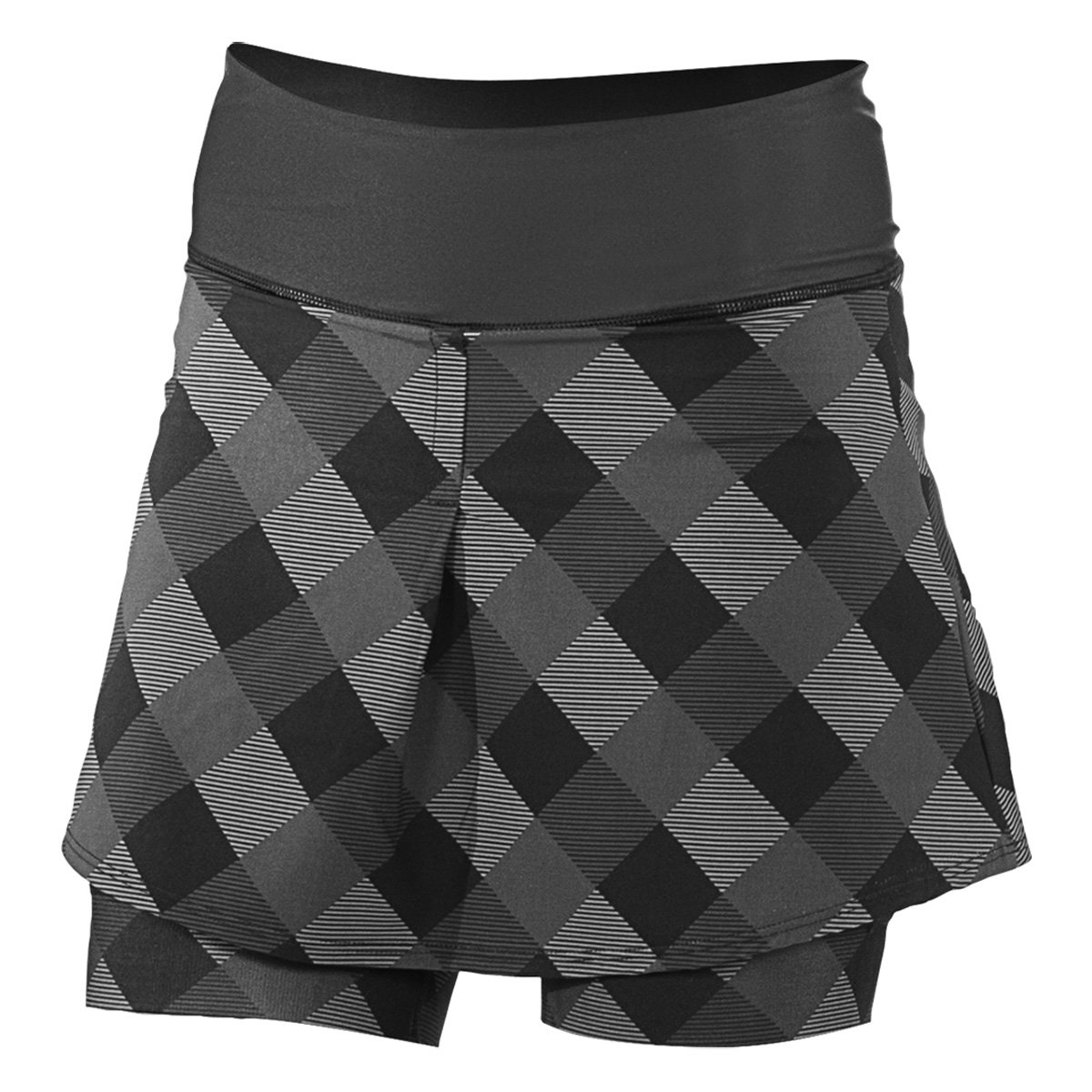 Shebeest Fender Skort in Gingham Style Print with Mountain Bike Pad (large)