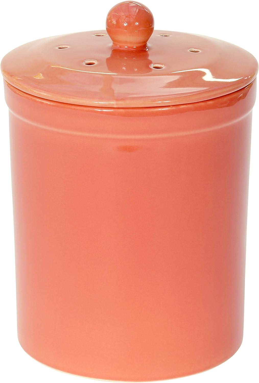 Naranja/marrón rojo de cerámica cubo para Compost - cubo de basura para abono Melbury cocina para guardar comida reciclado de residuos: Amazon.es: Hogar