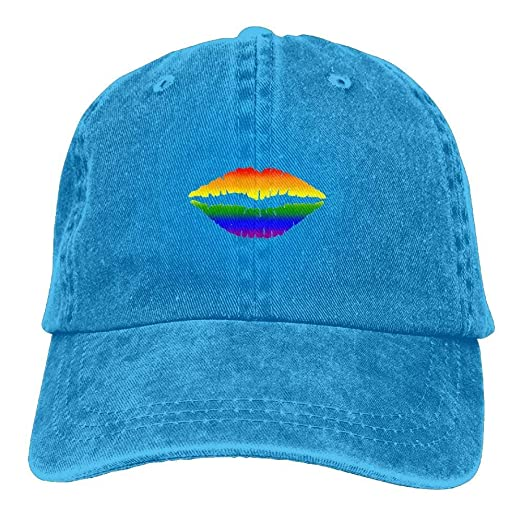 f25678d16b9 Melvin L Gay Lips Pride Polo Hat Dyed Cotton Sport Cl Denim Cowboy ...