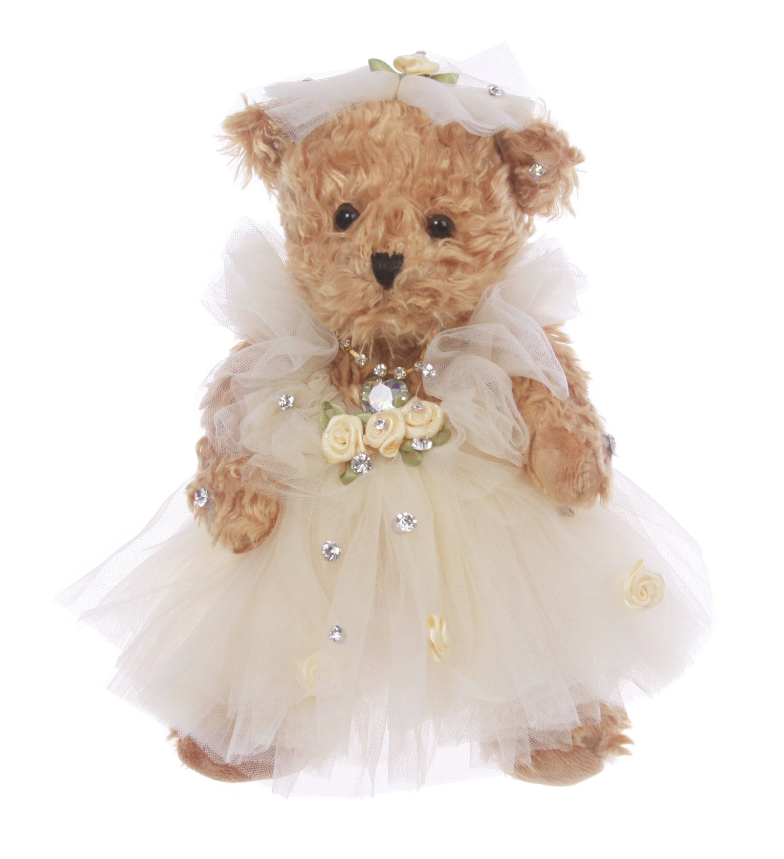 Wedding Dressed Teddy Bear Key Chain / Purse Charm Size: One Size Color: beige3