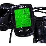 Bike Computer Speedometer Wireless Waterproof Bicycle Odometer Cycle Computer Multi-Function Large LCD Back-light Display