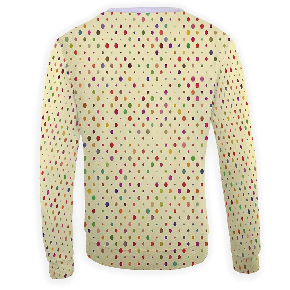 MOOCOM Adult Colorful Crewneck Sweatshirt