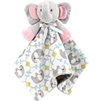 Zooawa Baby Security Blanket, Soft Stuffed Animal Elephant Plush Security Blanket Soothing Toy for Baby Toddles Kids…