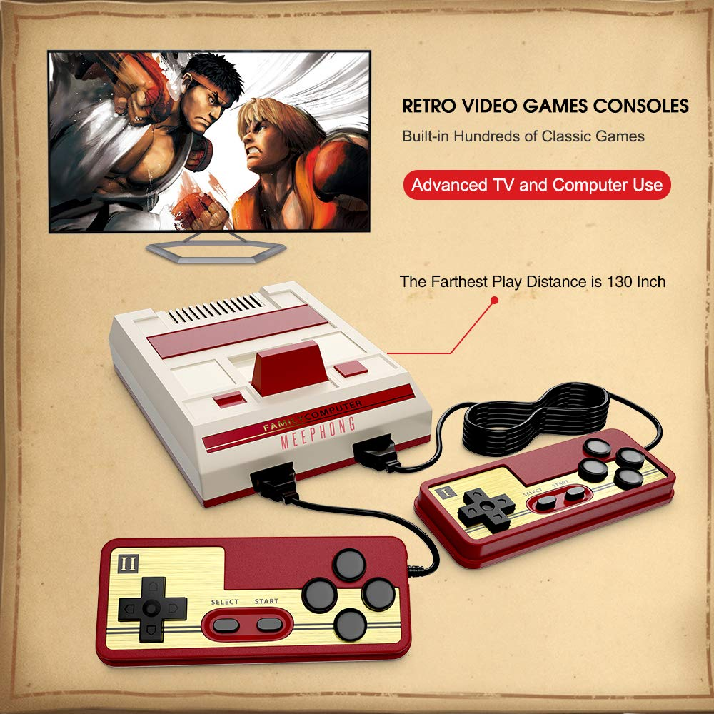 MEEPHONG Retro Game Console, HDMI AV Classic Mini Game Consoles, Built-in Hundreds of NES Classic Video Games by MEEPHONG (Image #4)