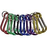 COM FOUR® Karabiner Set Karabinerhaken Mit Schlüsselring In 6 Verschiedenen  Farben