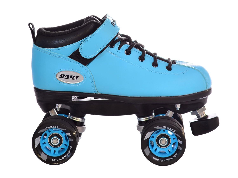 Roller skates blue - Amazon Com Riedell Dart Ice Blue Quad Roller Derby Speed Skates Sports Outdoors