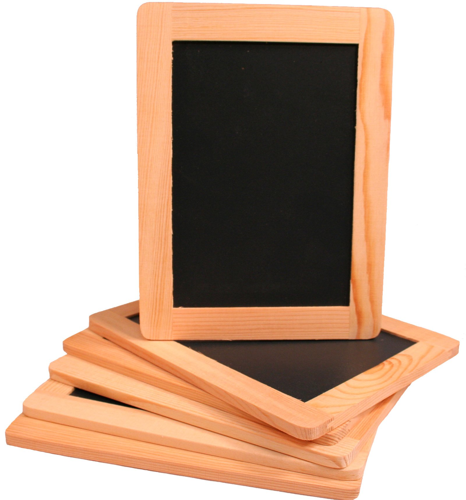 Creative Hobbies Synthetic Chalkboard With Unfinished Wood Frame, 4 x 6 Inch -Pack of 6 Chalkboards