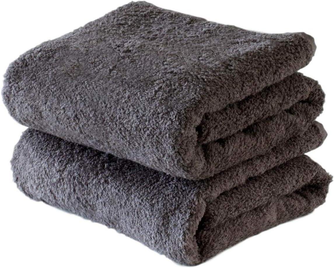 Imabari Bath towel Stripe gray Japanese High quality 2 sheets set Made in Japan