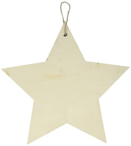 Amazoncom Darice 30011899 Wood And Corrugated Cardboard Signs Star