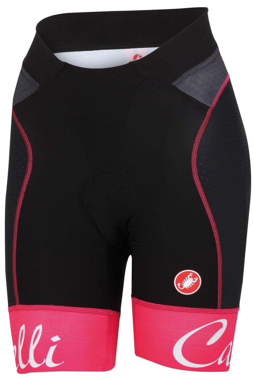 Castelli Free Aero Short - Women's Black/Raspberry Size S by Castelli (Image #1)