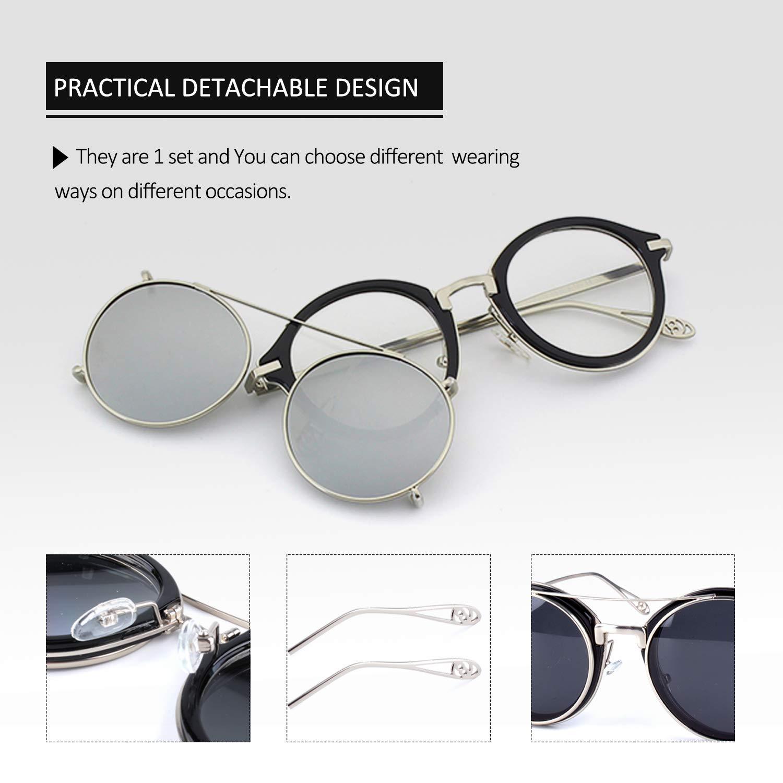 Amazon.com: Livo - Gafas de sol polarizadas con clip, doble ...
