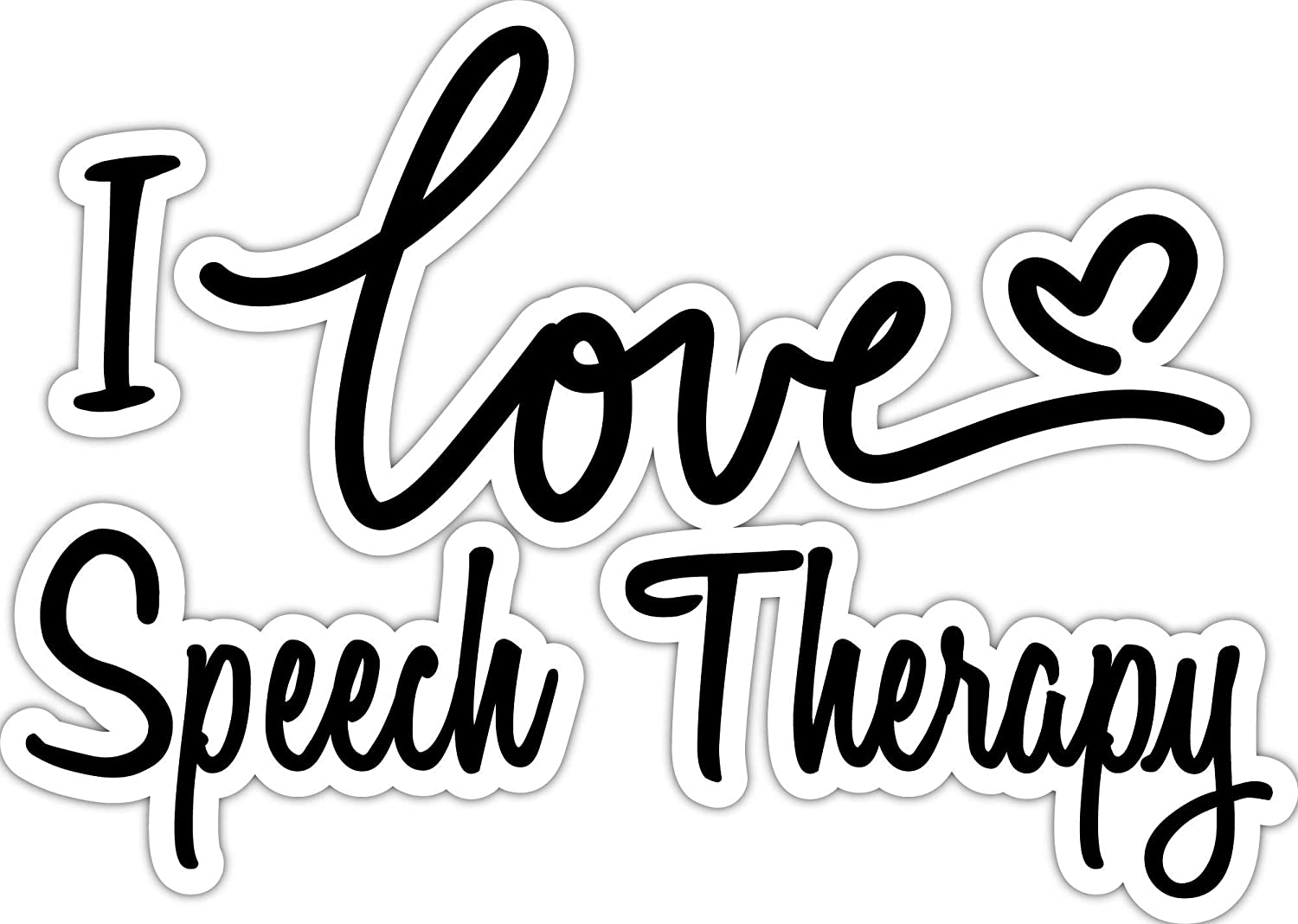 4 All Times I Love Speech Therapy Automotive Car Decal for Cars, Trucks, Laptops (8.0 W x 5.7 H)