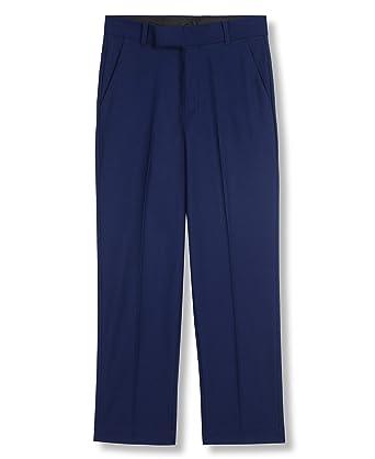 453e02a66 Amazon.com: Calvin Klein Boys' Solid Flat Front Dress Pant: Clothing