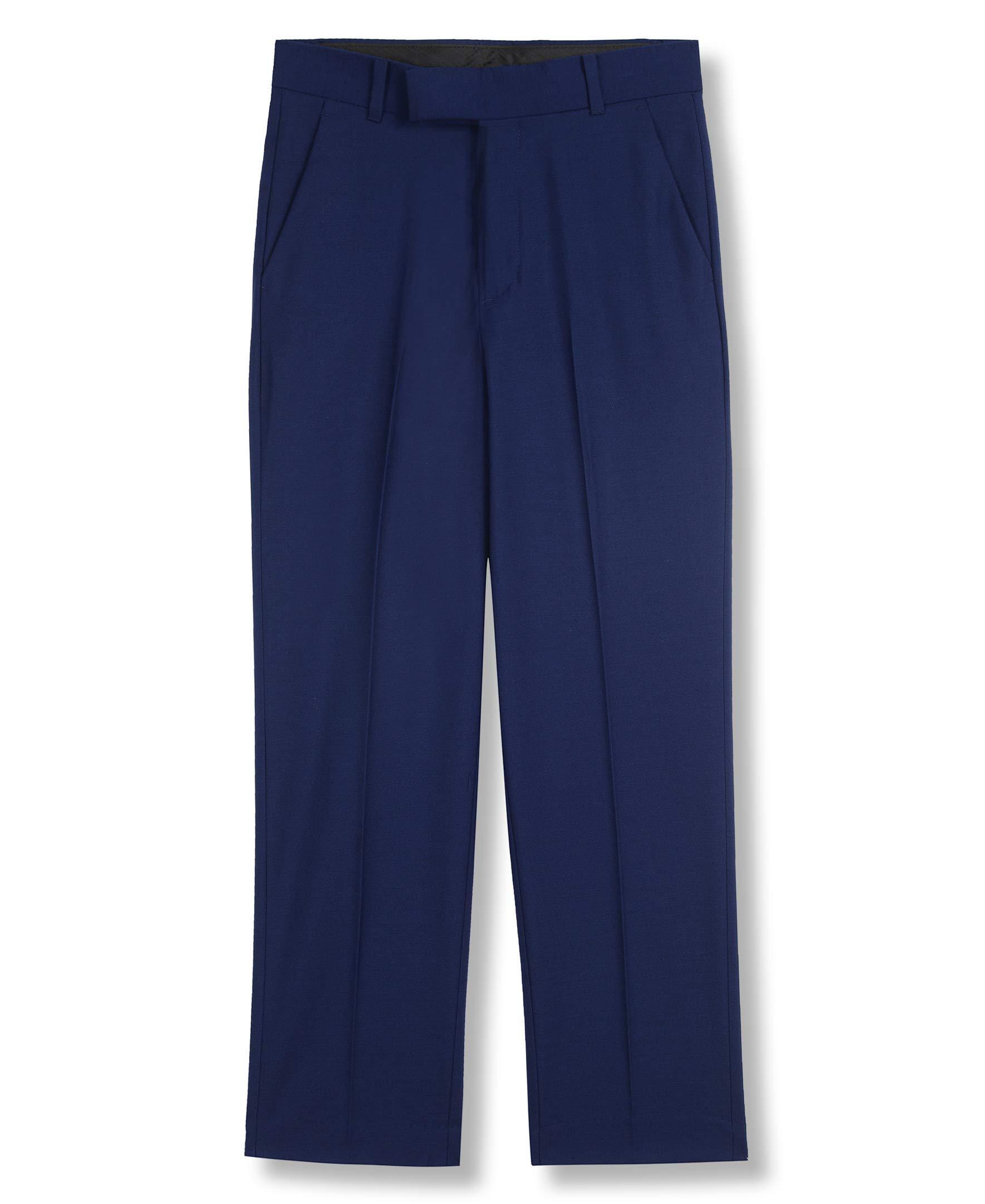 Calvin Klein Big Boys' Flat Front Dress Pant, Infinite Blue, 10 by Calvin Klein (Image #1)