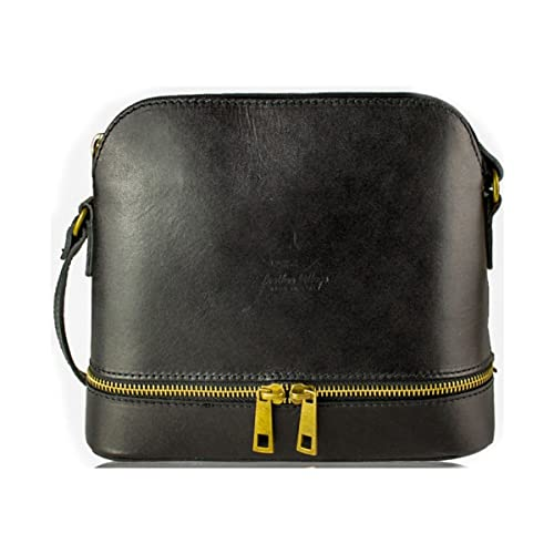 LeahWard Women s Real Leather Satchel Shoulder Soft Leather Italian Hand  Made Satchel Bag (BLACK CROSS. Roll over image to ... cd3476973f2e7