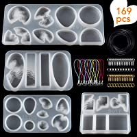 Suhome Epoxy Jewelry Resin Molds Island Ocean Resin Casting Molds Resin Jewelry Making Kit for Pendants, Necklace…