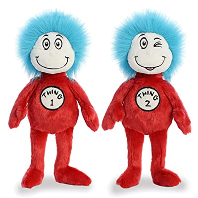 "Aurora Plush Bundle of 2, 12"" Thing 1 & Thing 2, Multicolor: Toys & Games"