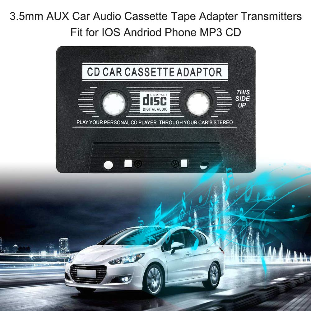Festnight 3.5mm AUX Car Audio Cassette Tape Adapter Transmitters Fit for iOS Andriod Phone MP3 CD