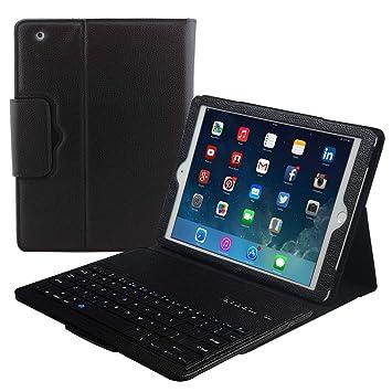 Apple iPad Pro 12.9 Teclado Caso, Eoso Plegable Funda de Piel Cover con Extraíble Bluetooth Teclado para iPad Pro 12.9 Tableta: Amazon.es: Electrónica