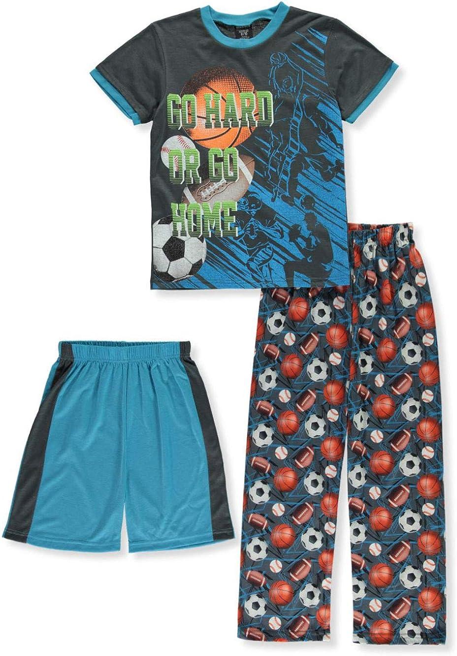 Quad Seven Boys Go Hard or Go Home 3-Piece Pajamas