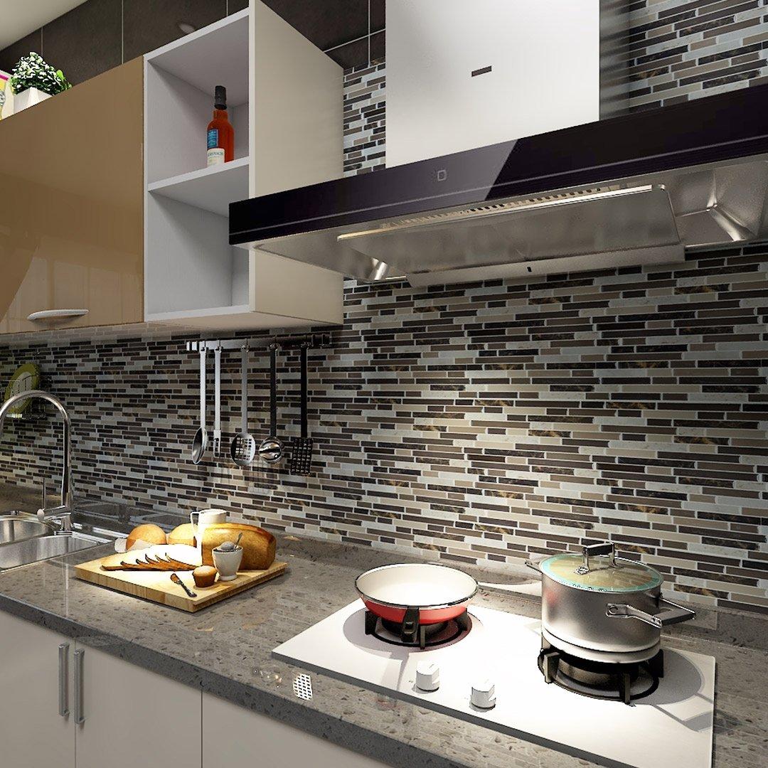 Art3d 12 x12 self adhesive wall tile peel and stick - Ceramica para cocinas ...