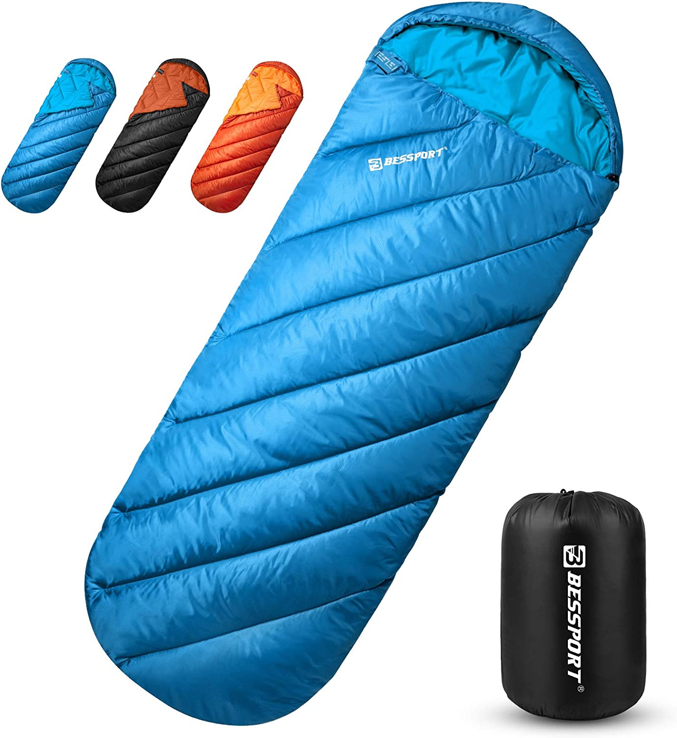 Bessport Camping Sleeping Bag -32℉/0℃ Extreme 3-4 Season Lightweight Backpacking Sleeping Bag for Hiking & Outdoor Great for Boys Girls and Adults