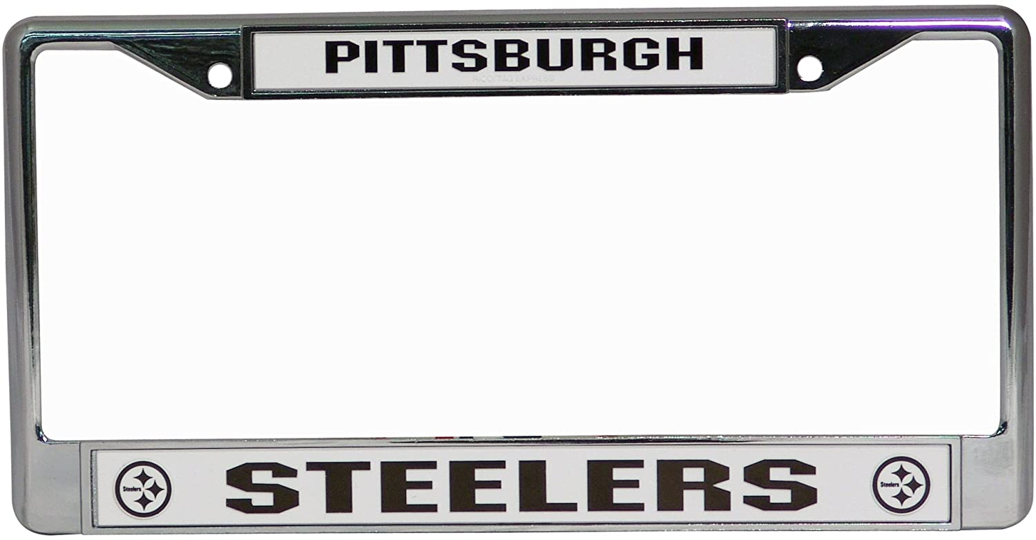 Amazon.com : NFL Pittsburgh Steelers Chrome Licensed Plate Frame ...