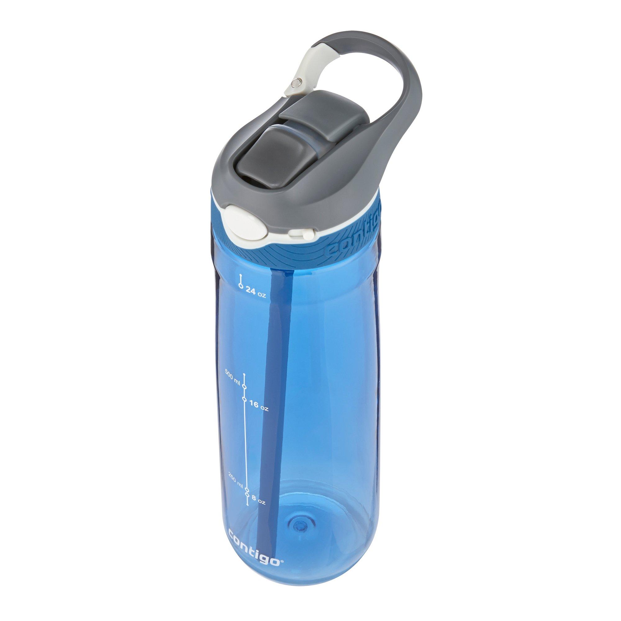 Contigo AUTOSPOUT Straw Ashland Water Bottle, 24 oz, Stormy Weather/Vibrant Lime/Monaco, 3-pack by Contigo (Image #2)