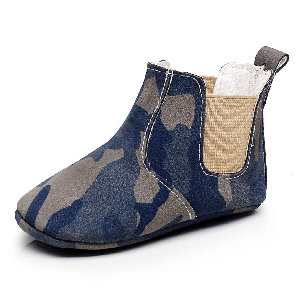 HONGTEYA Girls Boys Ankle Boots Toddler Moccasin Soft Soled Anti-Slip Baby Shoes