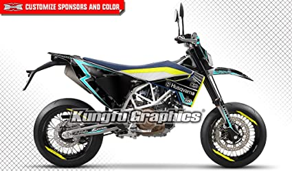 KUNGFU GRAPHICS Kawasaki KX250F Motorbike Sticker Set 2017