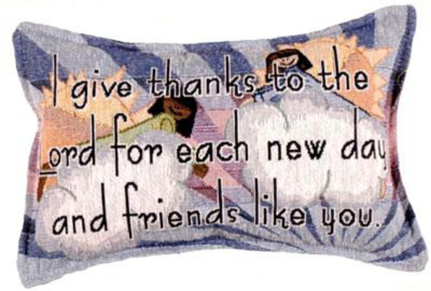 12'' Charming ''I Give Thanks Everyday'' Decorative Accent Throw Pillow