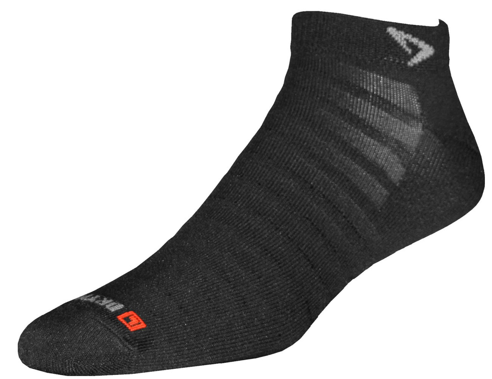 Drymax Run Hyper Thin Mini Crew Socks, Black, Small (W5-7 / M3.5-5.5)