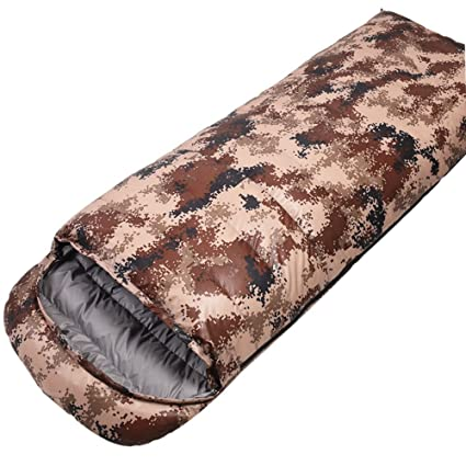 TOPQSC Camuflaje Abajo del Saco de Dormir Camping para Adultos al Aire Libre Camping Almuerzo Descanso