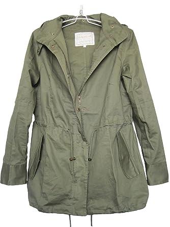 Amazon.com: Vedem Women's Hooded Drawstring Military Jacket Parka ...