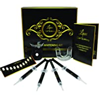 Luxe Pro Home Teeth Whitening Kit - Professional Tooth whiten Gel Dental Care Bleaching kit at Home ^ Bulbs led and 4 Charcoal gels- 100% Money Back Guarantee Luxe Teeth Whitening®