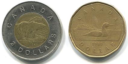 Amazon.com: Real Canadian $1.00 & $2.00 Dollar Looney ...