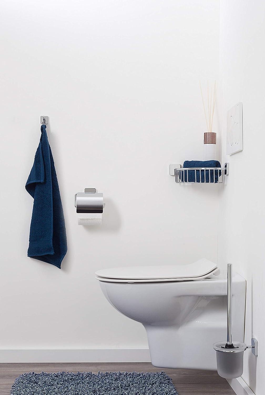 Edelstahl Chrom 13 x 8,8 x 3,5 cm Tiger Onu Toilettenpapierhalter ohne Deckel