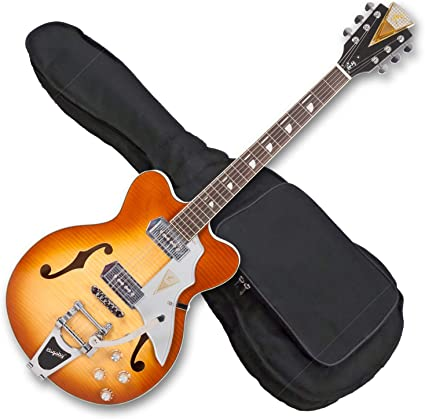 Kay Vintage Reissue Jazz II guitarra eléctrica – Ice Tea Sunburst ...
