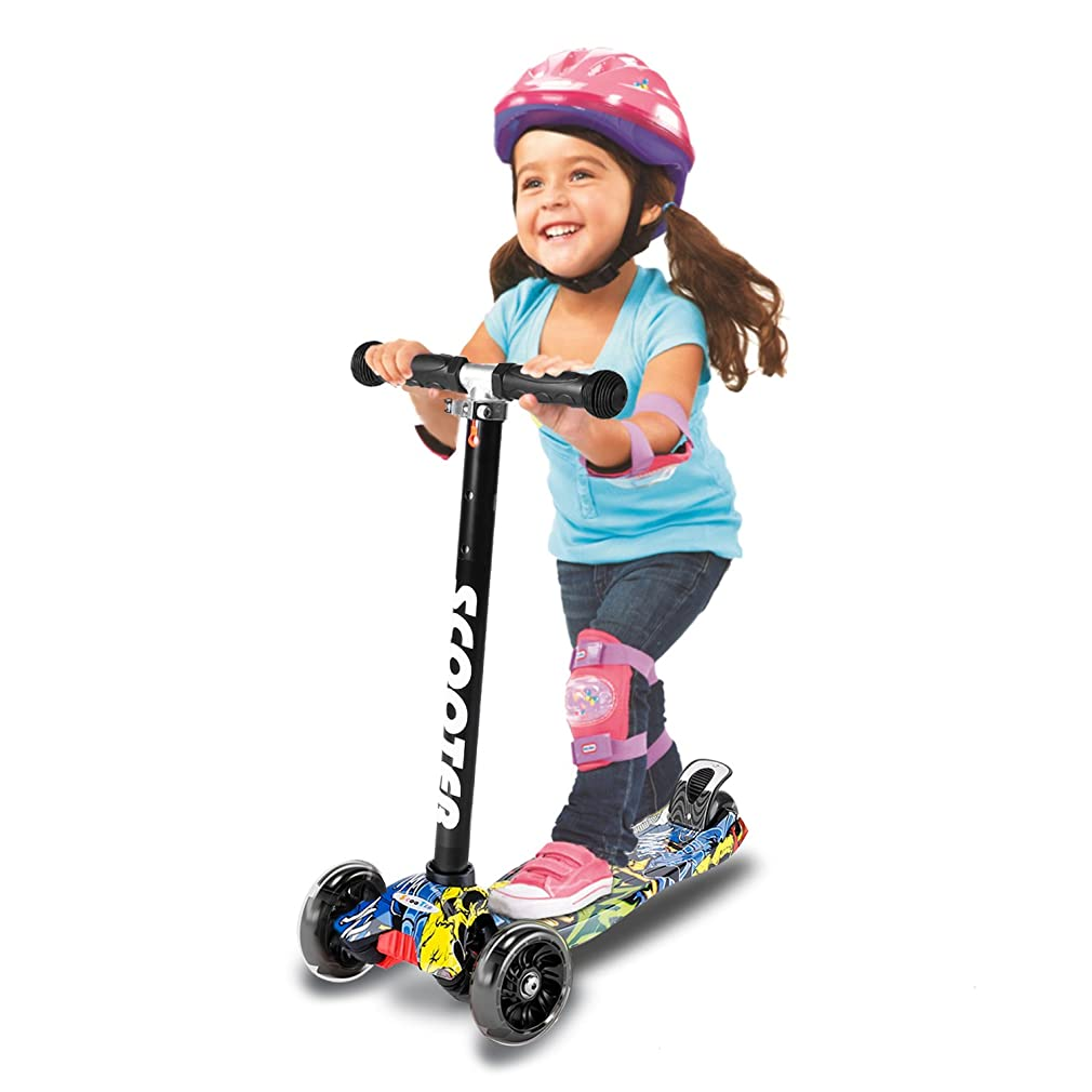 3 Wheel Scooters Folding Kids kick Scooter Sport Scooters with LED Flashing 3 Wheel for Kids, Children, Youth, Girls, Boys