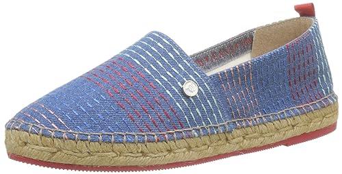 bf105bb30386cc Trussardi Jeans Espadrillas Donna, Blu (Denim Blue RIF 0t01 U151), 36 EU