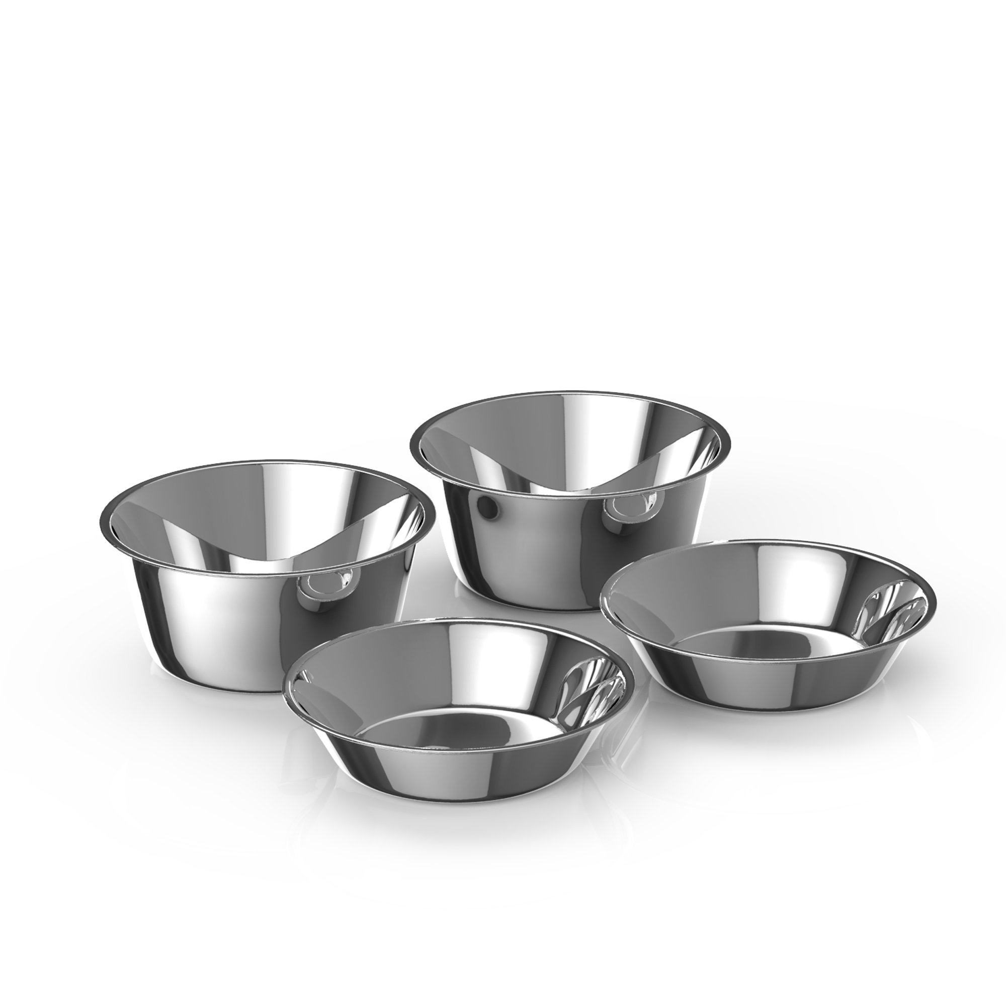 Premium Elevated Dog and Cat Pet Feeder, Double Bowl Raised Stand Comes with Extra Two Stainless Steel Bowls. Perfect for Dogs and Cats. (Replacement Bowls)