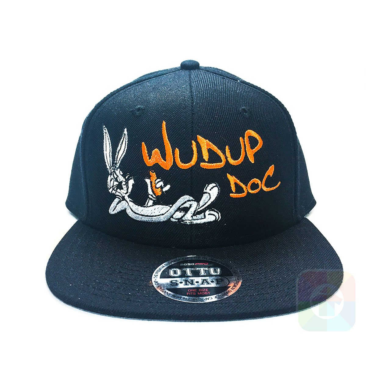 Bugs Bunny Wudup Doc Flat Six Panel Pro Style Snapback OttoCap  1071 at  Amazon Men s Clothing store  3ca75d860e6