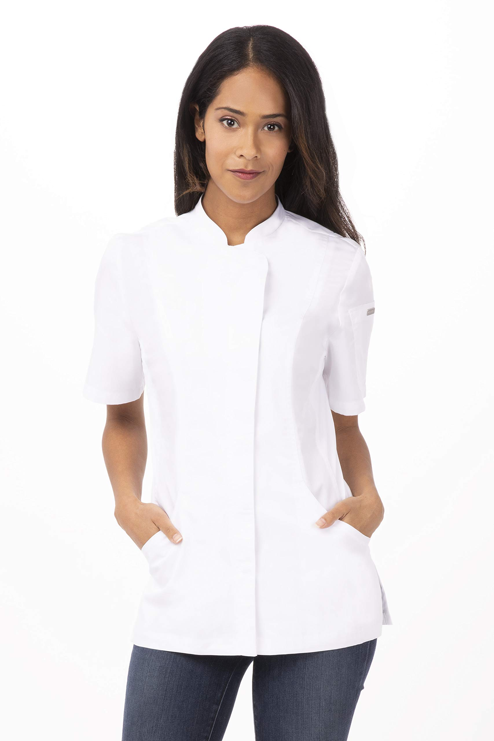 Chef Works Women's Roxby Chef Coat, White, X-Large by Chef Works