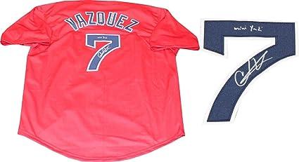 Christian Vazquez Mini Yadi Autographed Boston Red Sox Jersey at ... 68ff74d653f