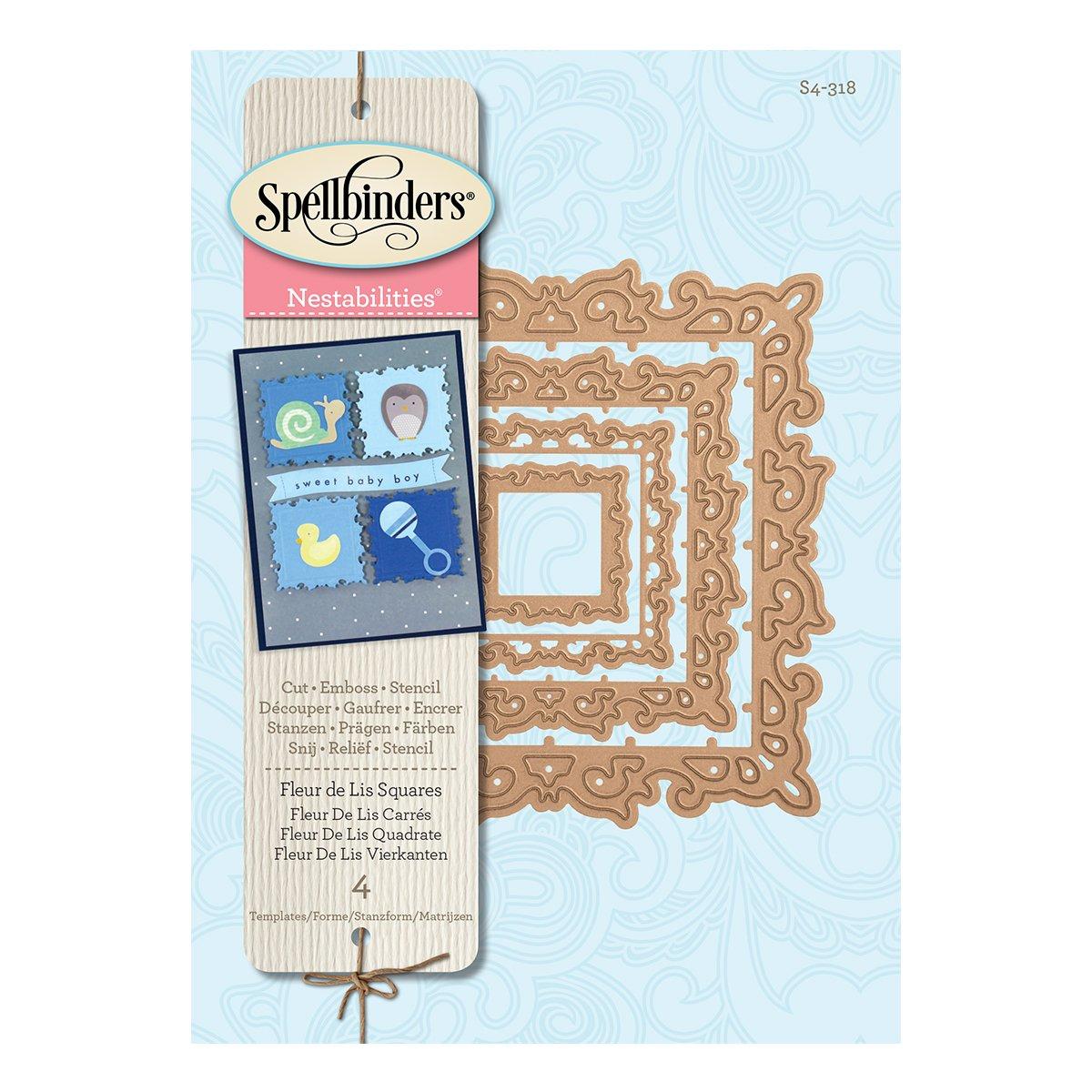 amazon com spellbinders s4 318 nestabilities fleur de lis squares