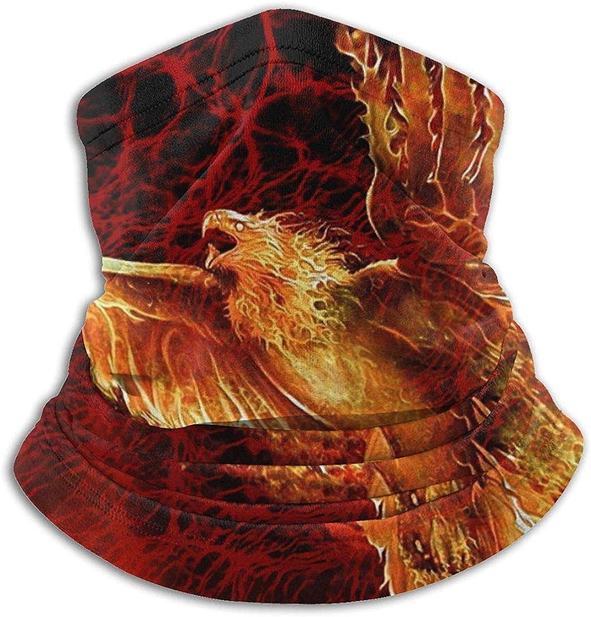 Fuego Eagle Calentador de cuello Bufanda Polaina Mascarilla Bandanas para polvo Clima frío Invierno al aire libre Festivales Deportes para hombres y mujeres