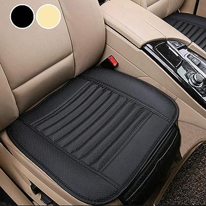 Big Ant Sitzbezüge Auto Sitzauflage Sitzkissen Auto Abdeckung Für Vordersitz Mit Pu Leder X 2 Stück Schwarz Auto