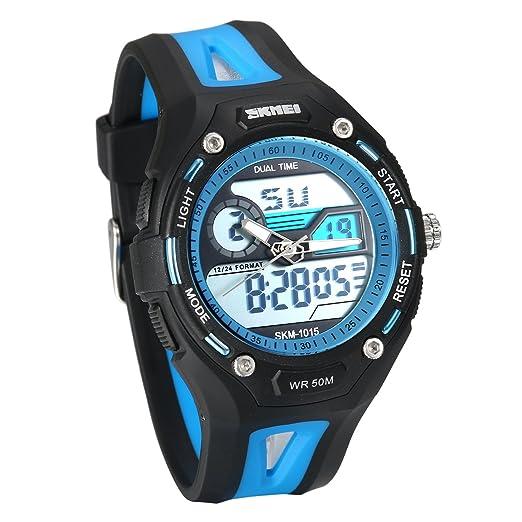 57ff9a7db378 JewelryWe Relojes para Niños Niñas Analógico Reloj Deportivo Digital para  Aire Libre