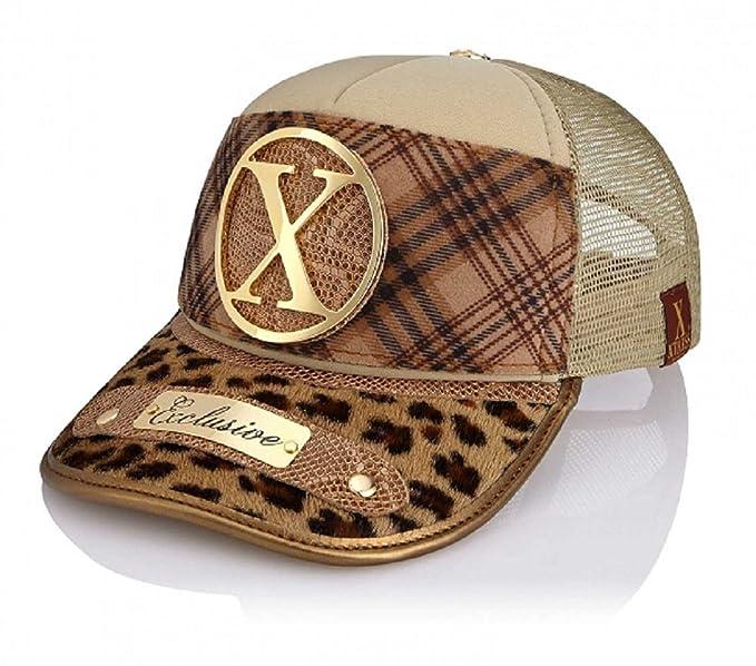 Xtress Exclusive gorra de diseño en tonos marrones para hombre y mujer.   Amazon.es  Ropa y accesorios 359de40194e
