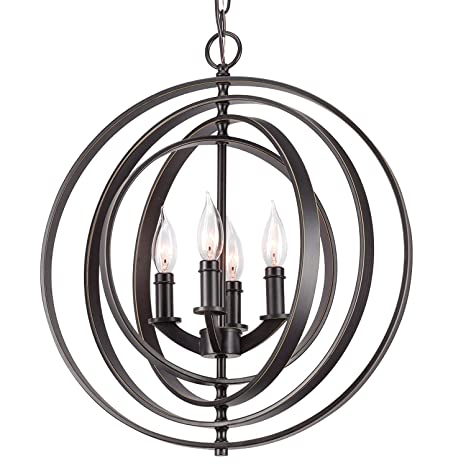 Revel Kira Home Orbits 18 4 Light Modern Sphere Orb Chandelier
